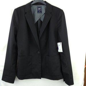 Gap Black Modern Wool Blend Blazer